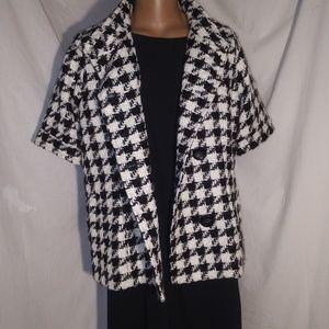 B/W Worthington XL Petite Houndstooth Jacket